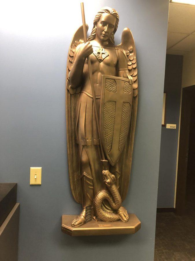 Saint Michael is the patron saint of law enforcement.   Photo by Bryan Geenen