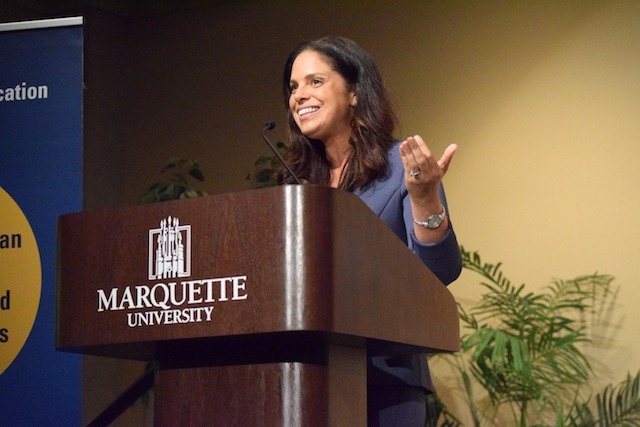 Soledad+O%27Brien+moderated+a+conversation+discussing+racism+on+campus.+