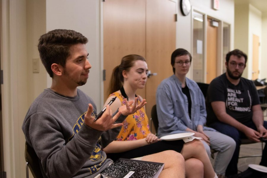 Students raised concerns to the Provost Search Committee.