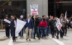 Faculty, students and community members rally for unionization
