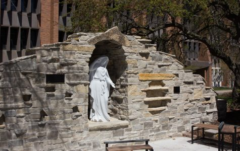 New Mary Grotto near the St. Joan of Arc