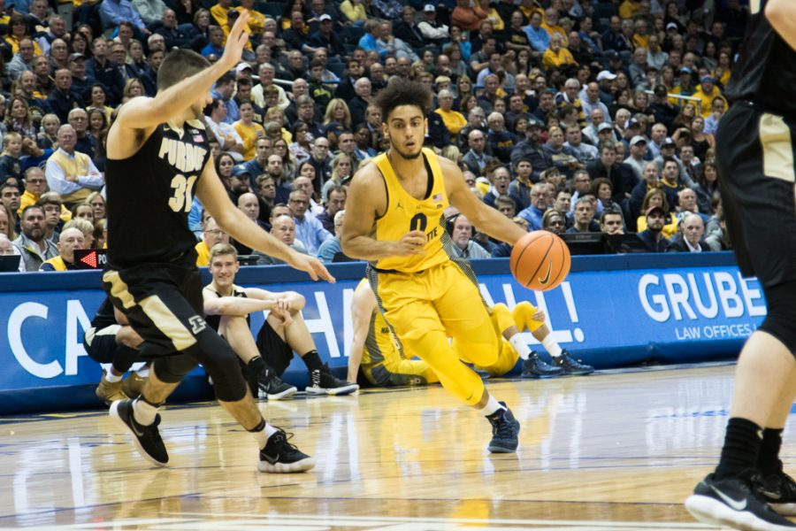 Then-sophomore+guard+Markus+Howard+scored+24+points+in+the+Golden+Eagles%27+loss+to+Purdue+in+2017.