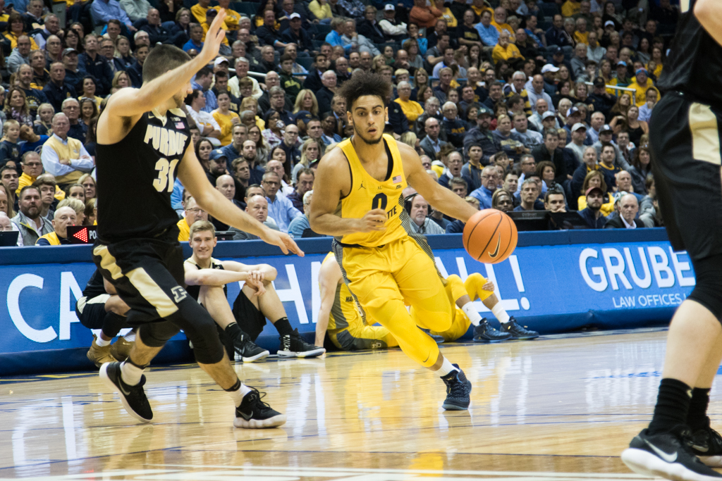 Then-sophomore guard Markus Howard scored 24 points in the Golden Eagles' loss to Purdue in 2017.