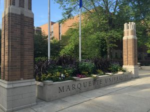 Area near Raynor Memorial Library and Wisconsin Ave. Marquette Wire stock photo.
