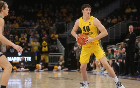 Tommy Gardiner appeared in three games in 2018-'19. (Photo courtesy of Marquette Athletics)