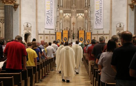 The Mass of the Holy Spirit took place at the Church of the Gesu.