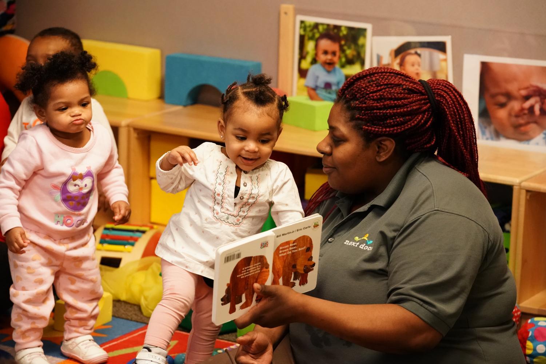The staff at Next Door Milwaukee helps children aged zero to five improve literacy.