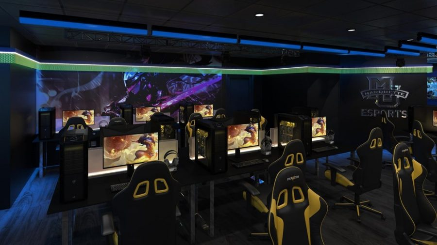 Marquette is looking to upgrade an existing space for its esports facility. (Rendering courtesy of Marquette Athletics)
