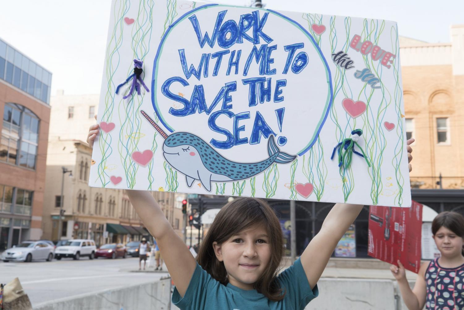 Milwaukee citizens gathered Sept. 20 to demand climate action from city, state and national governments. Photo via flickr.