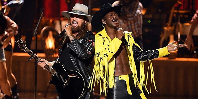 Billy Ray Cyrus and Lil Nas X performed their hit song
