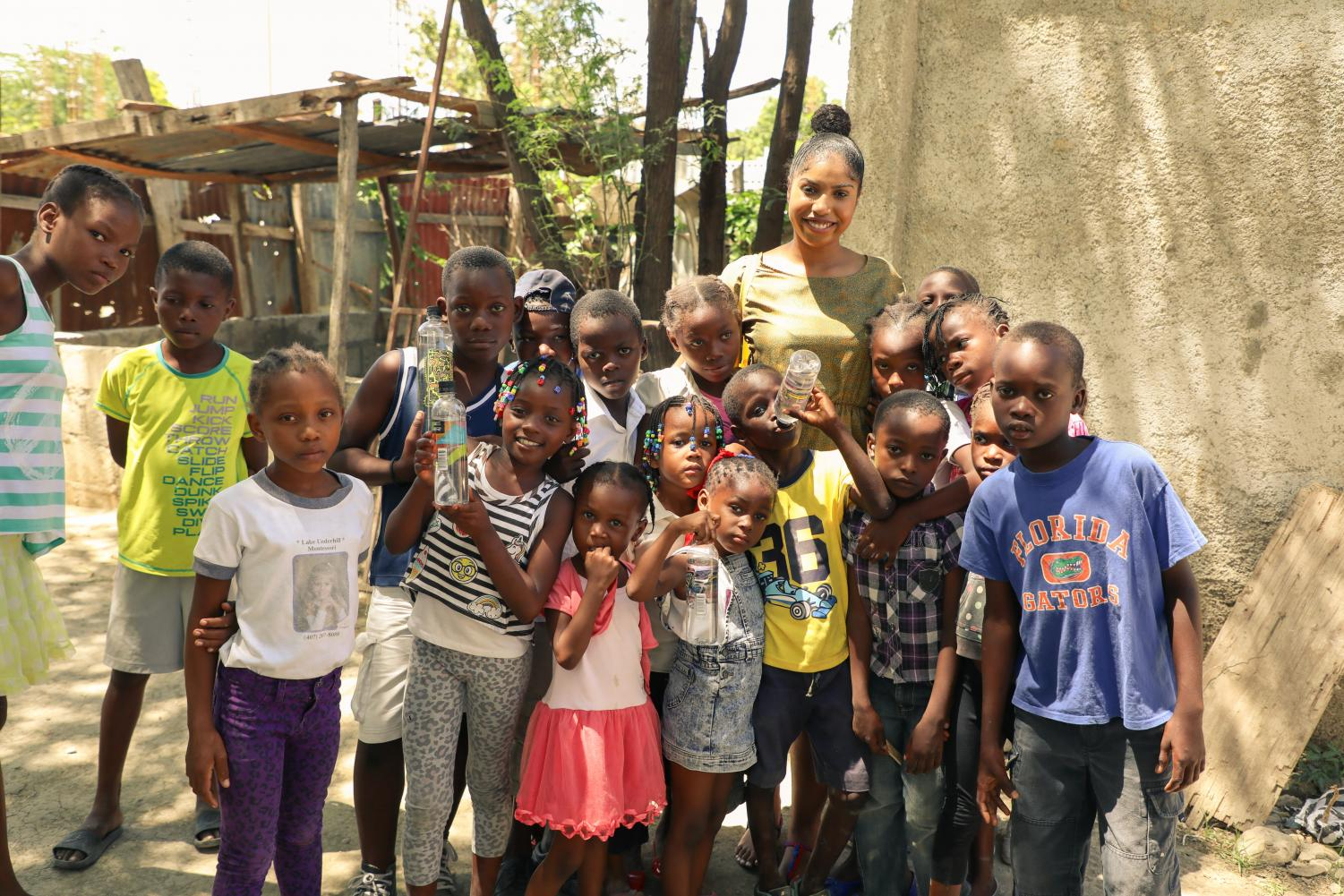 The group returned from the trip determined to build a school in Haiti.  Photo courtesy of Steven Duclaire