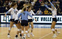 Volleyball holds off late push by UCF in five-set victory