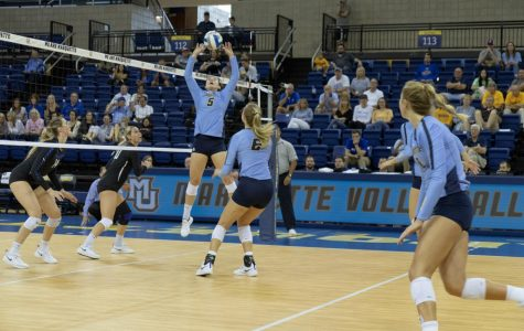 Volleyball sweeps SLU in Marquette Invitational