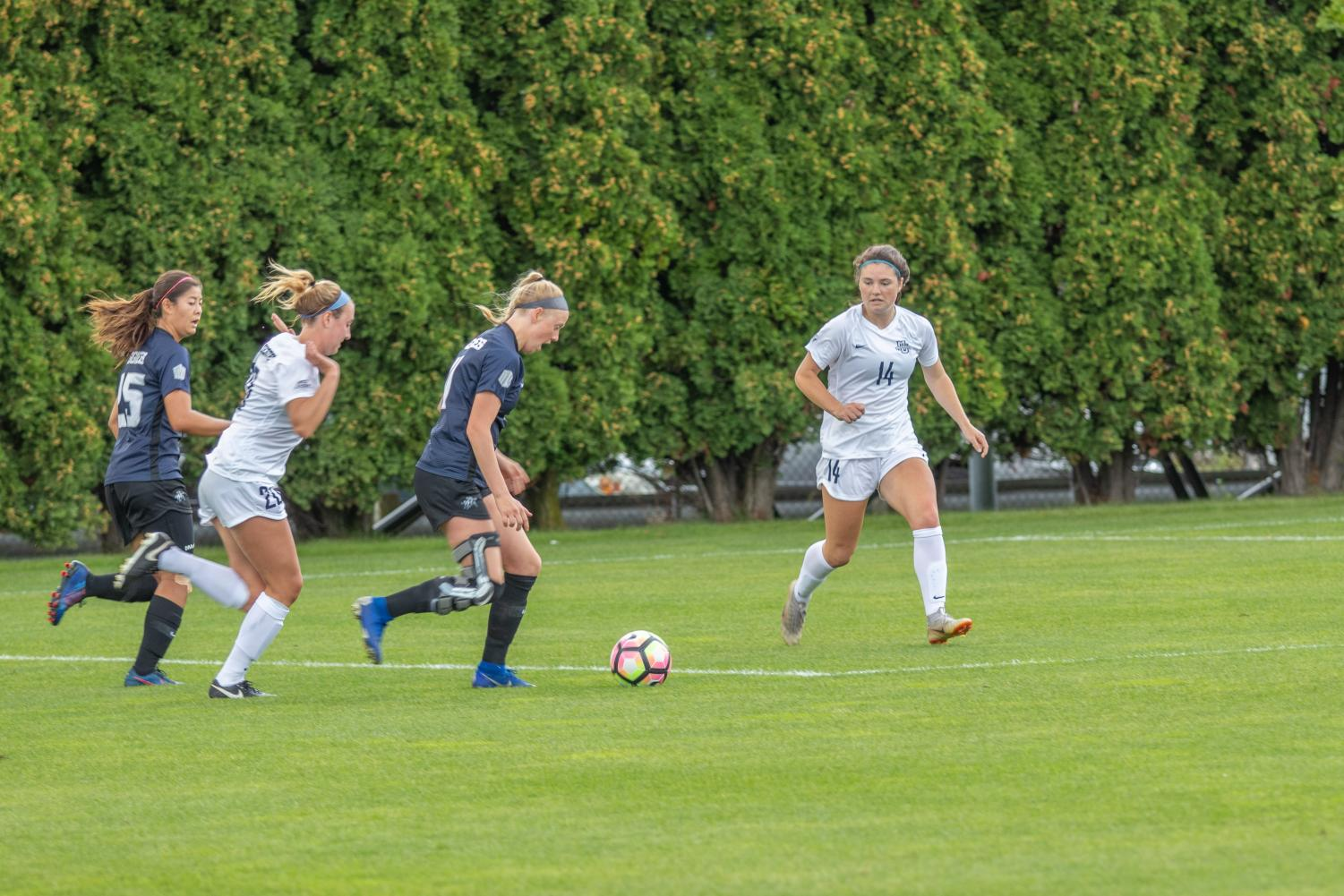 Utah State scored three goals in a span of less than eight minutes Sunday against Marquette at Valley Fields.