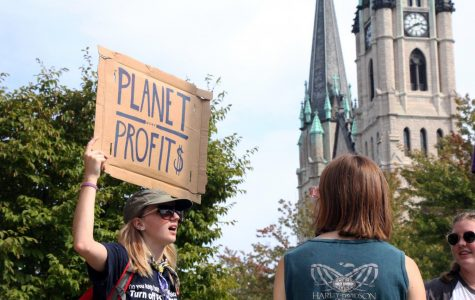 Students protest climate change, MU demonstration policy