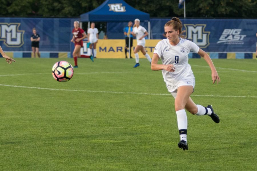 Macey+Shock+scored+her+first+goal+of+the+season+Friday+evening+against+Northern+Illinois.