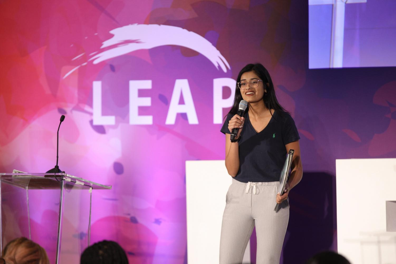 Zoya Shams at an event for the LEAP Foundation.  Photo courtesy of Zoya Shams