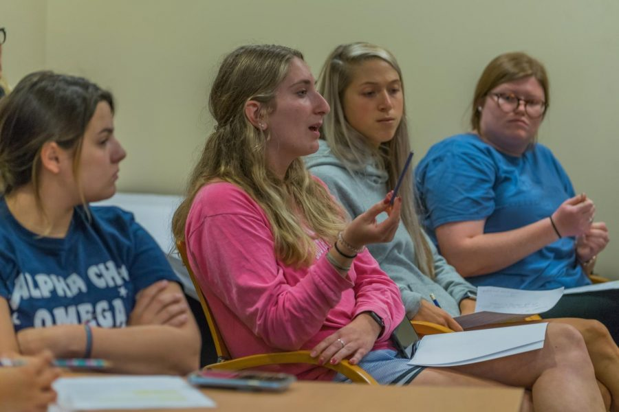 College of Education students express frustration and concern about university cuts at a student forum Sept. 20.
