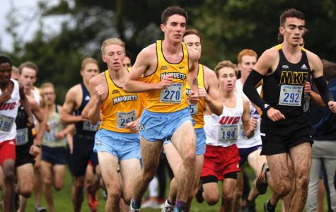 Junior Danny Peterson runs in the Lakefront Invitational in Chicago. (Photo courtesy of Marquette Athletics.)