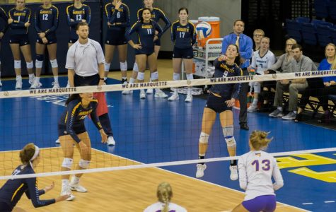 Volleyball beats UNI in four sets