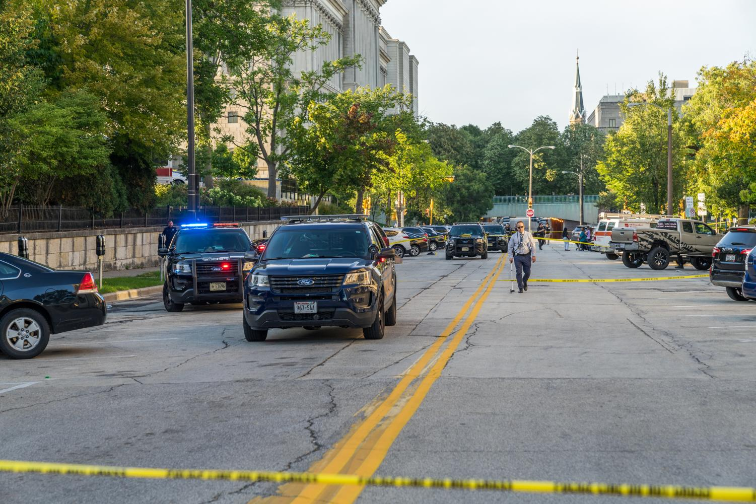 MUPD responds to shooting at 9th Street and Wisconsin Avenue.
