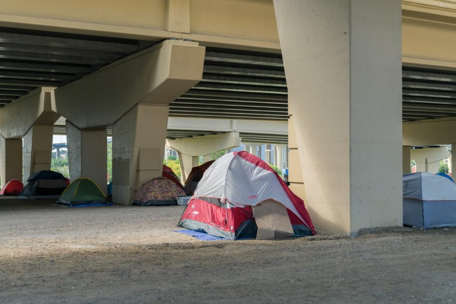 The+encampment+received+the+eviction+notice+Oct.+4.+