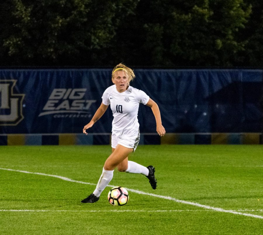 Natalie Yass took two shots on goal in Marquette's 2-1 loss to Providence Oct. 3.