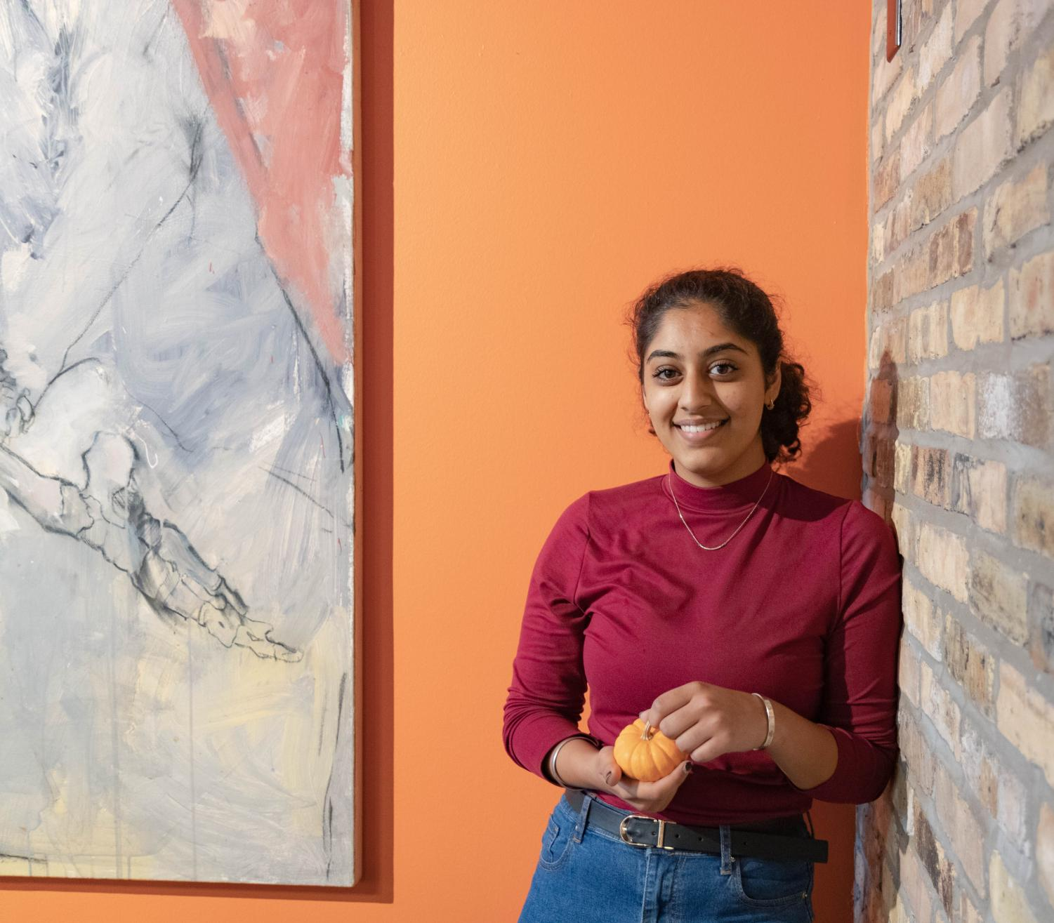 Simran Armstrong, a freshman in the College of Health Sciences, spent her fall break decompressing from midterm stress.