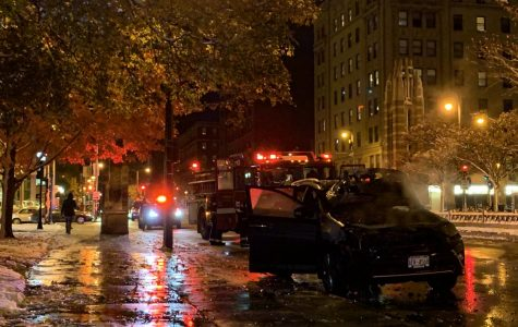 BREAKING: Car catches on fire near 16th and Wisconsin