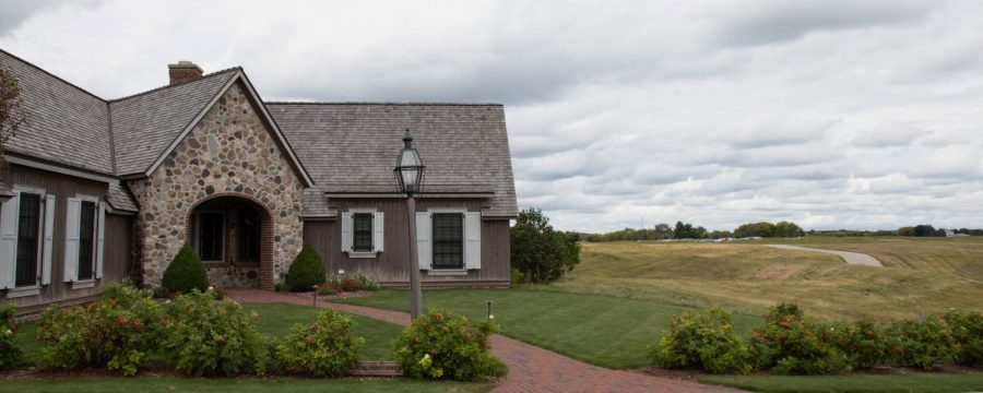 Erin Hills club house is where the golf team meets for practices and home tournaments.
