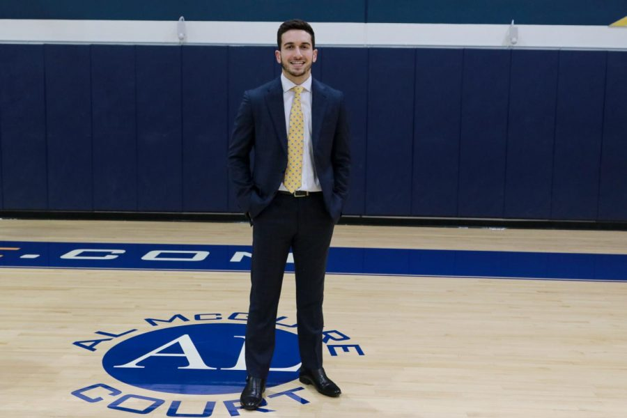 Cam Marotta was a walk-on with the mens basketball team from 2015-19. This season he has a different role as program assistant.