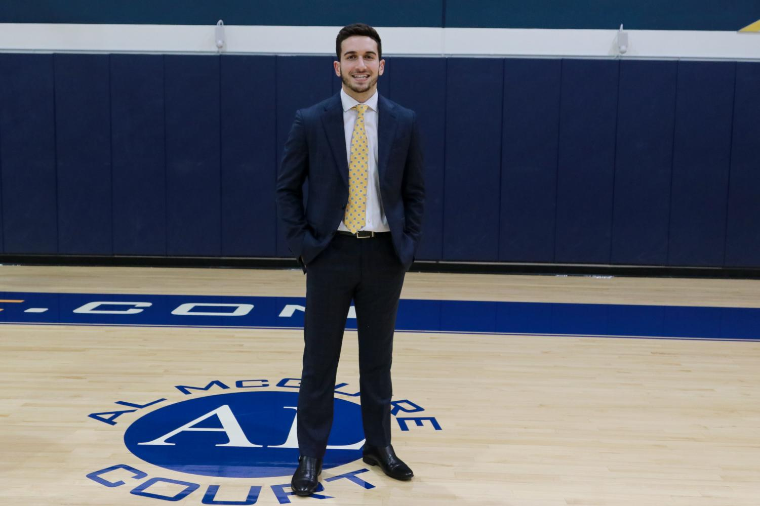 Cam Marotta was a walk-on with the men's basketball team from 2015-'19. This season he has a different role as program assistant.