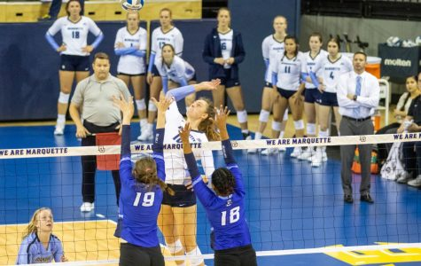 Volleyball falls to reigning BIG EAST champs No. 13 Creighton in five-set heartbreaker