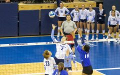 Volleyball completes second sweep in 24-hour period with win at Georgetown
