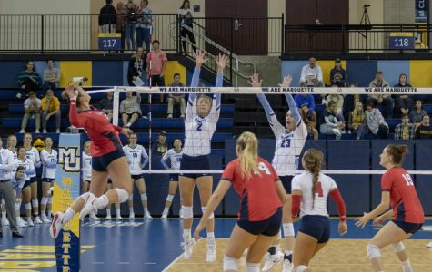 Volleyball downs St. John's 3-1 at Carnesecca Arena