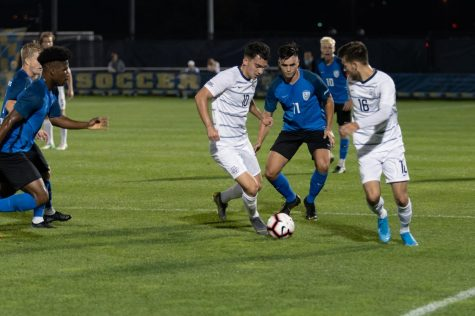 Men score four in home opener