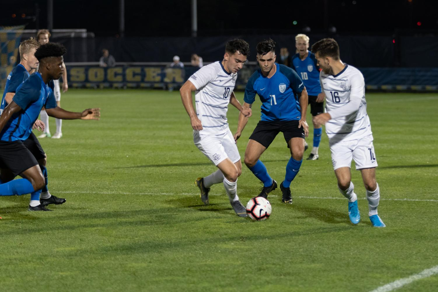 Senior captain Luka Prpa played in 63 minutes and scored his first goal of the season Tuesday night against Saint Louis.