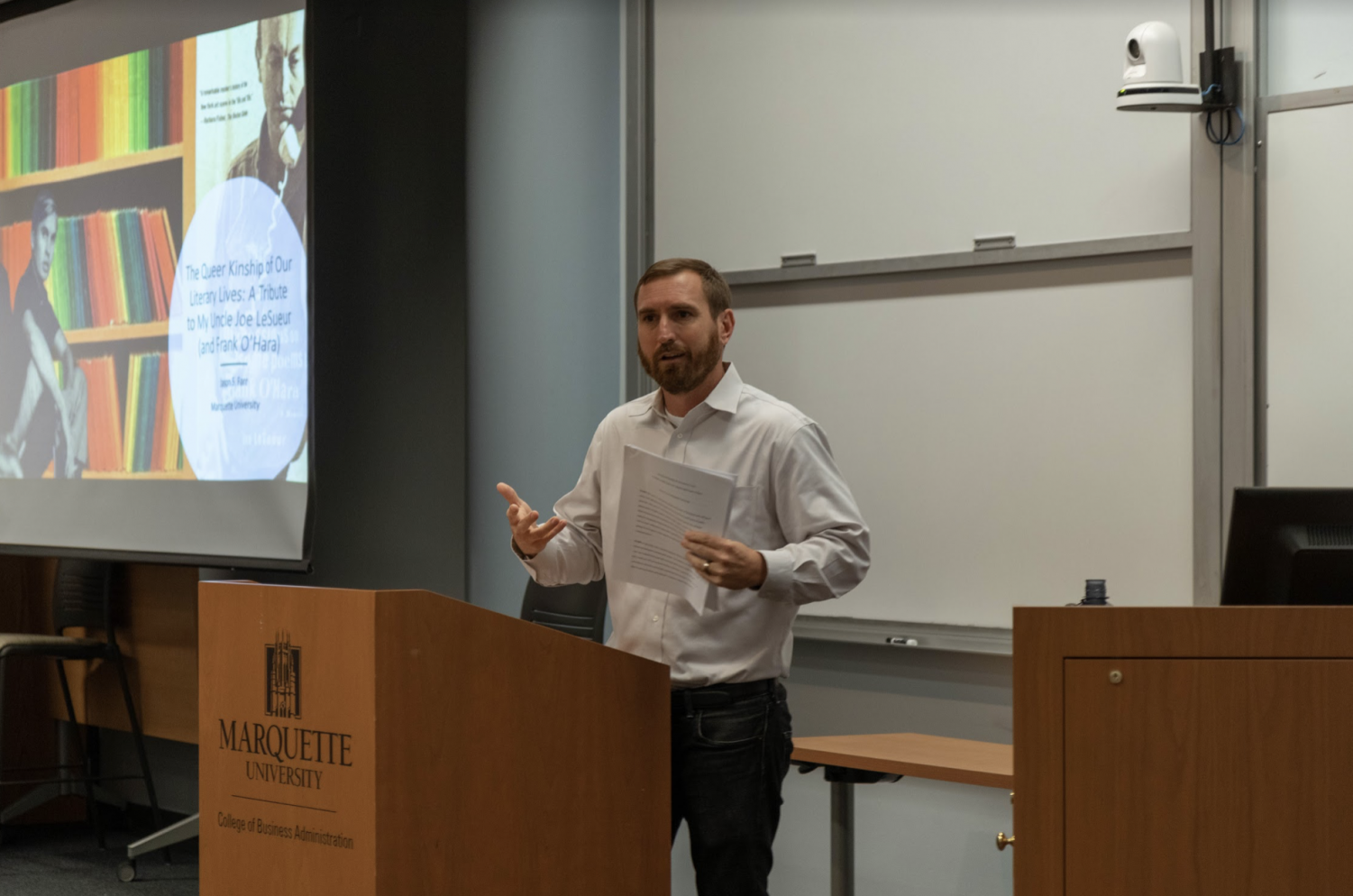 Assistant English professor Jason Farr talks about his Uncle Joe and the LGBTQ community.