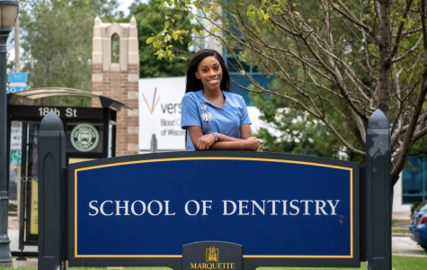 Chante Parker became the Dental School's first African American class president.
