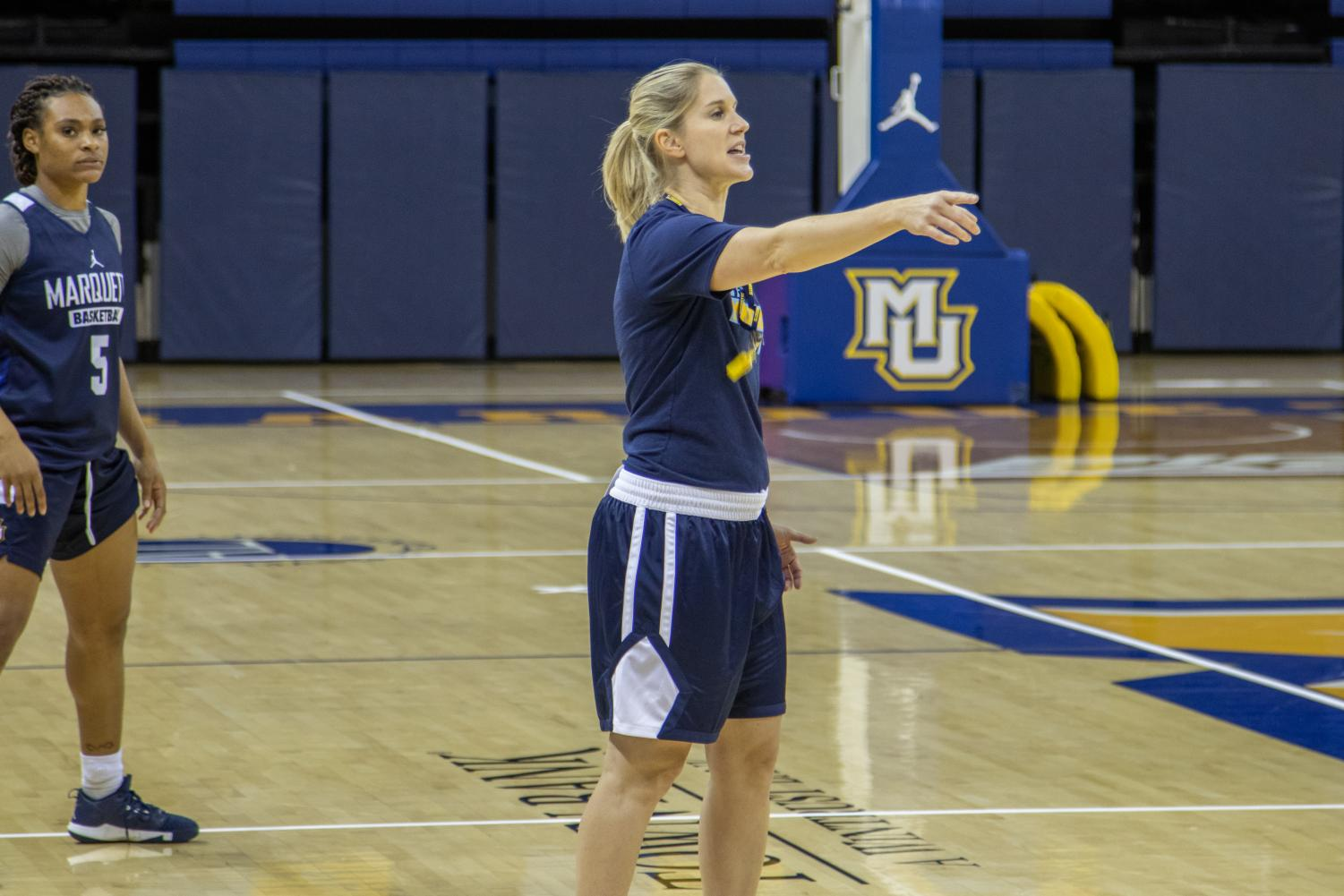 Megan Duffy is the new women's basketball coach.
