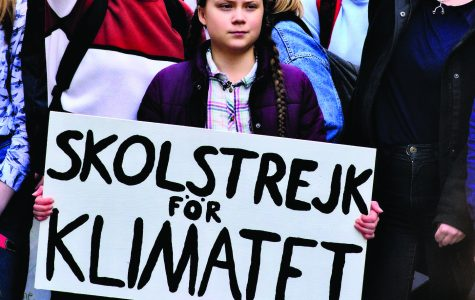 Sweden native and environmental activist Greta Thunberg leads climate strike in Paris, France, Feb. 22, 2019. Photo by Stephane P via Flickr. Photo was altered by cropping.