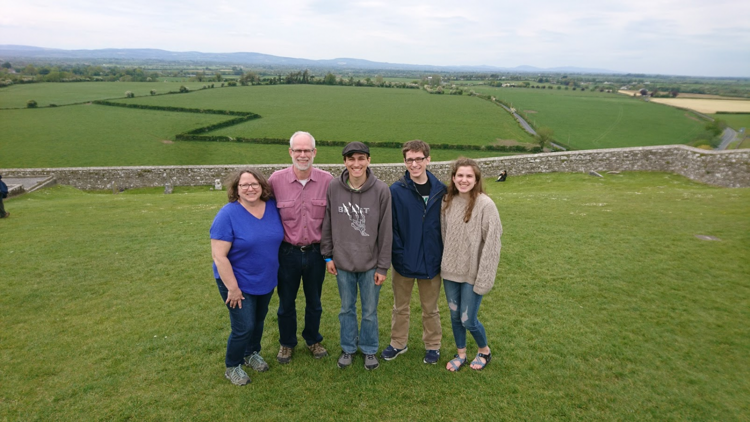 The Eddinger family went to Ireland to visit Jack (middle) during his study abroad semester.
