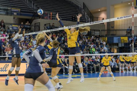 Volleyball picks up 3-1 victory at Xavier