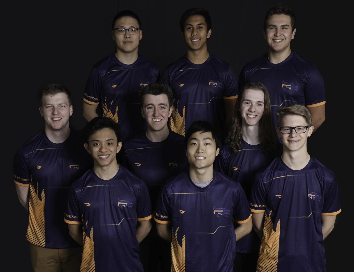 The varsity League of Legends team. (Photo courtesy of Marquette Athletics.)