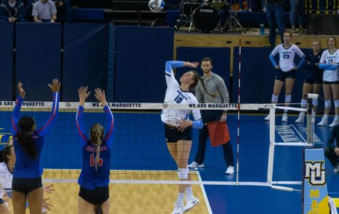 Allie Barber ties Theresa Coughlin as all-time kills leader with sweep at DePaul