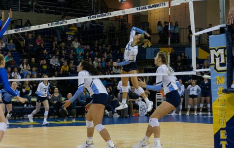 Volleyball sweeps DePaul in first half of back-to-back