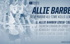 Allie Barber breaks MU's all-time kills record