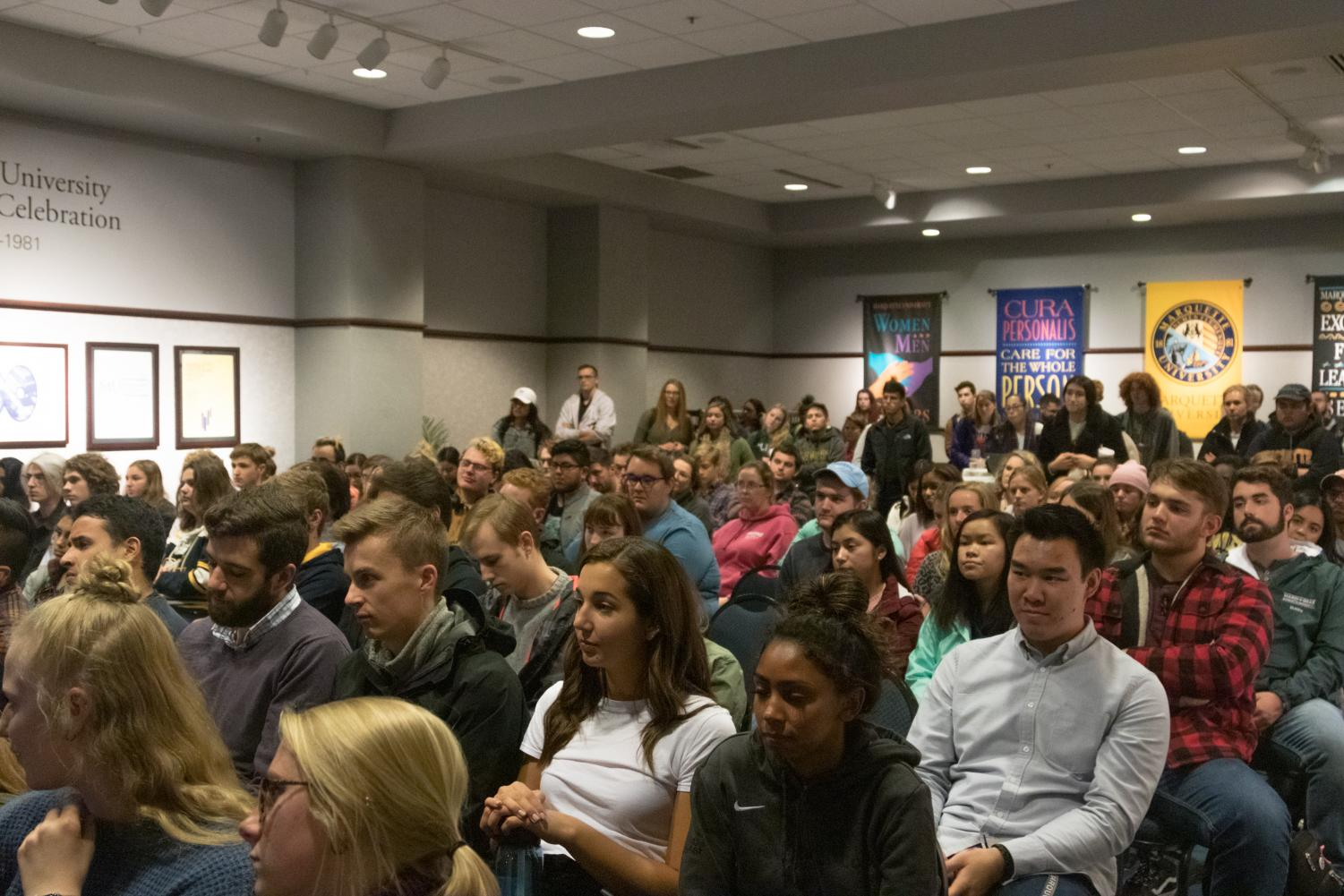 Students attended an informational session about DNC opportunities Oct. 22 in the Alumni Memorial Union.