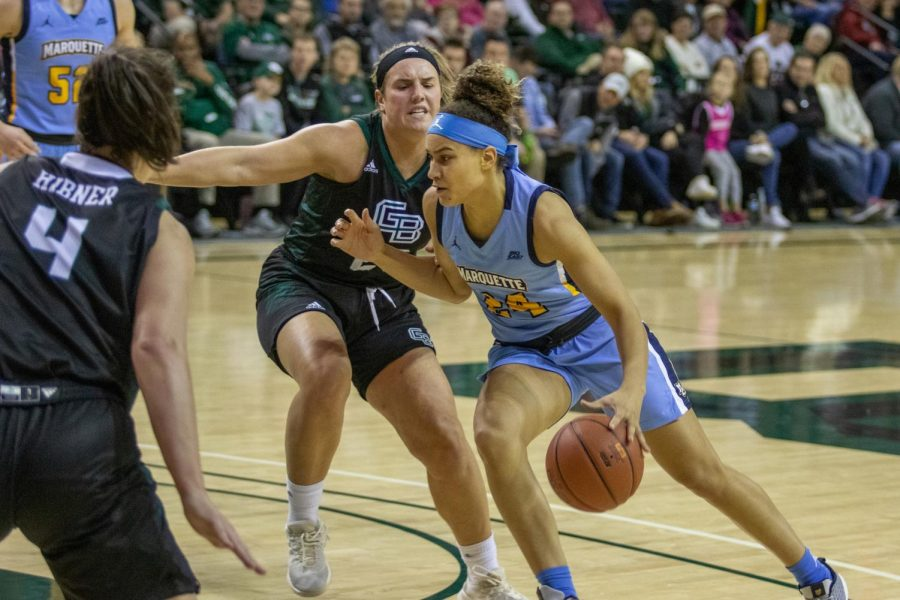 Selena Lott scored a team-high 18 points in Marquette's win at Green Bay Nov. 19 at the Kress Center.