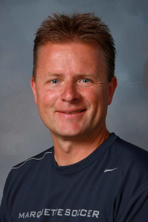 Markus Roeders has been head coach of the Marquette women's soccer team for 24 seasons. (Photo courtesy of Marquette Athletics.)